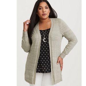 Torrid Olive Knit Cardigan Sweater Size 6 (6X)